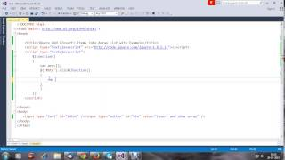 jQuery Add Insert Items into Array List with Example
