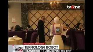 preview picture of video 'Robot Pelayan Restoran Dikembangkan Di Nanchang, Tiongkok'