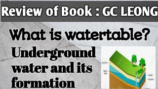 What is underground water and Water table?  || Chapter 4 || Physical Geography || Lecture 14