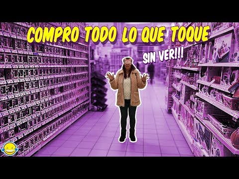 Compro TODO lo que TOQUE con los OJOS VENDADOS Challenge | Buying EVERYTHING I Touch Blindfolded