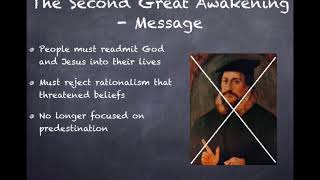 APUSH Review  Video #27  The Second Great Awakening Key Concept 4 1, II, A