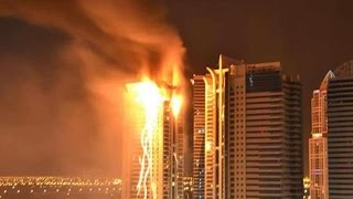 BREAKING: Fire Engulfs Dubai Skyscraper thumbnail