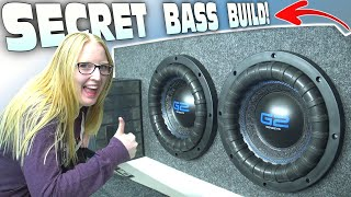 """SURPRISE Car Audio Install w/ My Girlfriend's NEW RIDE!!! How To Build Ported a 10"""" G2 Subwoofer Box"""
