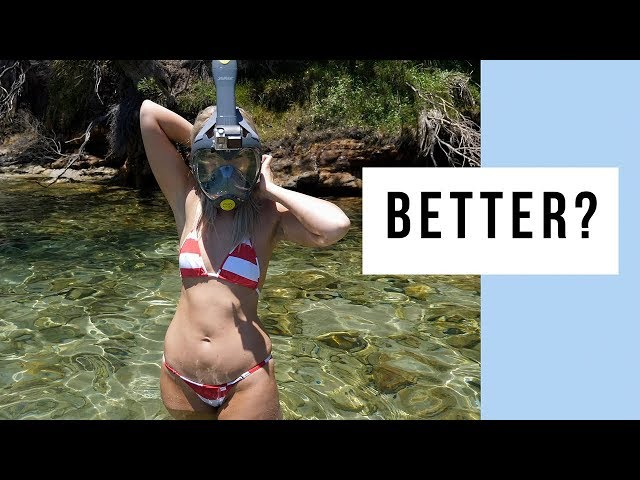 The Seabeast Pro-N1 Full Face Snorkel Mask - 50% Larger Snorkel Than Seaview 180