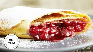 How To Make AMAZING Cherry Strudel