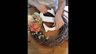 Monogram Wreath DIY in under 15 minutes!