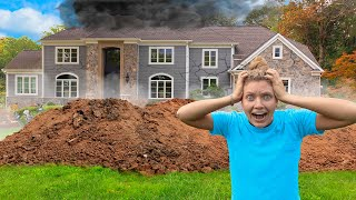 POND MONSTER TWINS DESTROY SHARER FAMILY HOUSE!! (Giant Hole In Backyard Found)