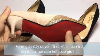 Giày lọ lem VO | 8 phân kim tuyến | VO.020714