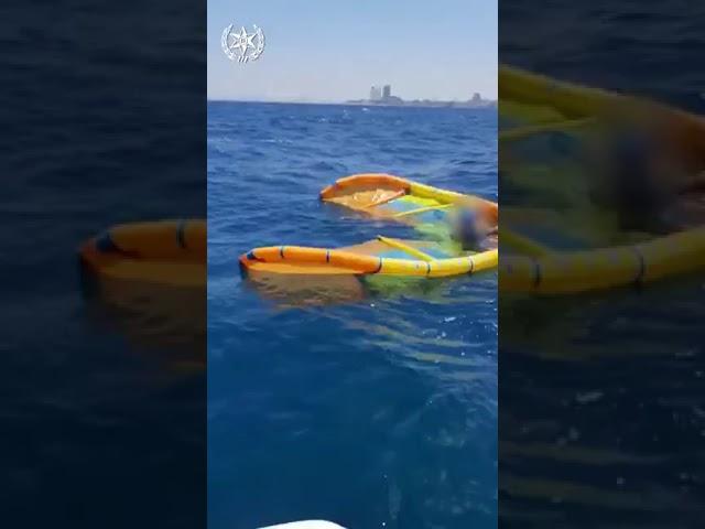 חולץ גולש מצנח מול חופי חיפה לאחר שחבלי המצנח נכרכו סביב סביב גופו בעומק הים