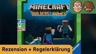 Minecraft - Builders & Biomes - Brettspiel - Review und Regelerklärung