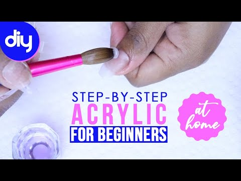 How to Do Acrylic Nails at Home for BEGINNERS 💅🏼(Self Taught) by Pretty Boss