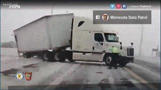 Spring snowstorm hits Minnesota