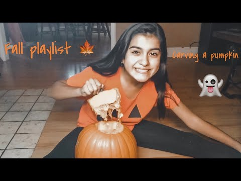 Fall playlist and carving a pumpkin 👻🍁