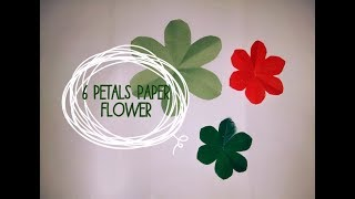 How to cut 6 petal paper flowers/DIY petal flowers/origami craft/decor ideas