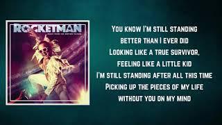 Taron Egerton - I'm Still Standing Rocketman (Lyrics)