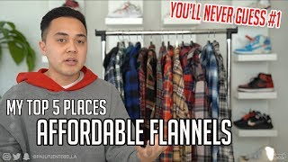 AFFORDABLE FLANNELS : My TOP 5 Stores To SHOP And Haul!