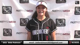 2022 Bella Robinson - 3.58 GPA - Speedy and Athletic Outfielder Softball Skills Video - Firecrackers
