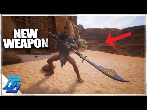 Set up new base, NEW WEAPONS! - Conan Exiles Gameplay - Part 7