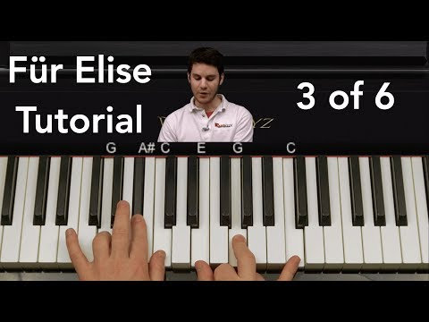 How to Play Für Elise by Beethoven Piano Tutorial Part 3 of 6