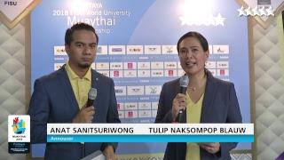 Closing ceremony 2018 FISU World University Muaythai Championship 29 July 2018