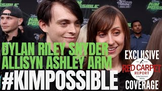 Dylan Riley Snyder & Allisyn Ashley Arm interview at #DisneyChannel #KimPossible Movie Premiere