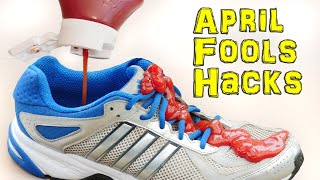 Stupid Life Hacks for April Fools Day! thumbnail
