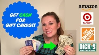 How to sell GIFT CARDS for CASH!!
