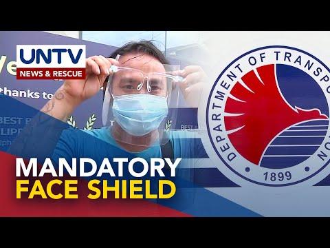 [UNTV]  Pagsusuot ng face shield sa pampublikong sasakyan obligado na simula sa August 15
