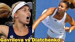 Gavrilova vs Diatchenko Kremlin Moscow Open 2018