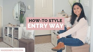 Entryway Decorating Ideas For Small Spaces | 5 Steps To An Organized Entryway