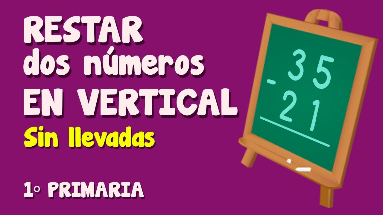 Resta vertical de dos números sin llevar para niños de Primaria (2/3)