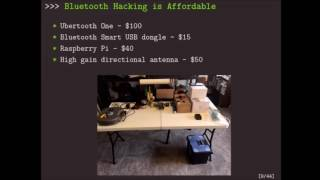 DEF CON 24 - Anthony Rose, Ben Ramsey - Picking Bluetooth Low Energy Locks a Quarter Mille Away