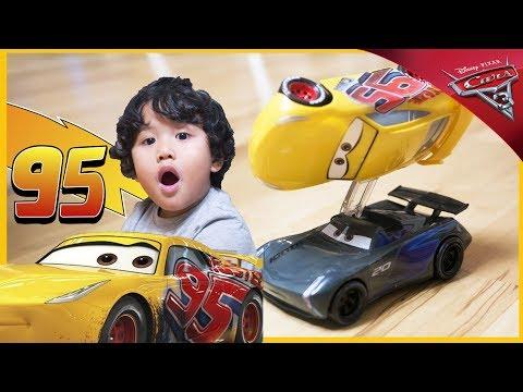 CARS 3 MOVIE RACE Rusteze Cruz Ramirez vs Jackson Storm Flip to Win
