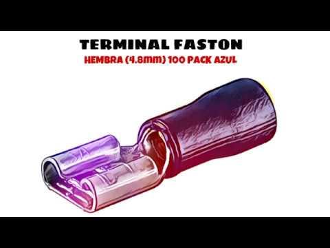 Terminal Faston Hembra (4.8mm) 100 Pack Azul distribuido por CABLEPELADO ®