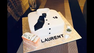 Dress Shirt cake + Watch and Money