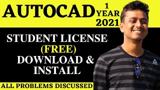 [Free] DOWNLOAD AutoCAD | INSTALL FOR 1 YEAR | STUDENT LICENSE [2021] (ENGLISH)