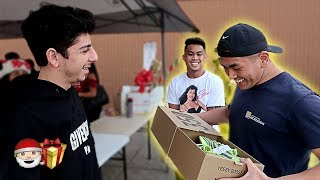 SURPRISING RANDOM STRANGERS WITH CRAZY CHRISTMAS GIFTS!! | FaZe Rug