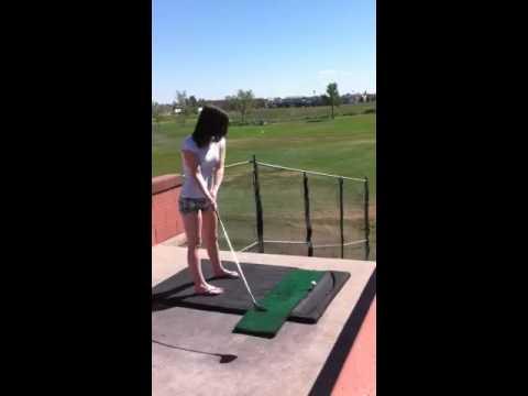 Golfing in flip flops