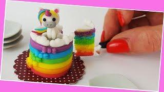 Unicorn cake miniature cooking, Jenny's mini cooking show