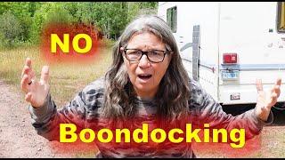 RV Living Boondocking Woes in North Dakota