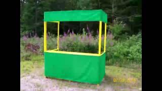Portable Info Or Craft Fair Vendor Booth (FREE PLANS)
