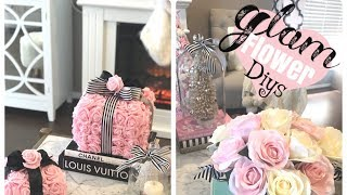GLAM DIY FLOWER ARRANGEMENTS