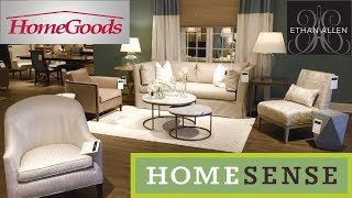 ETHAN ALLEN HOME SENSE HOME GOODS FURNITURE SOFAS ARMCHAIRS SHOP WITH ME SHOPPING STORE WALK THROUGH