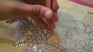 Hand Embroidery Designs For Dresses Moti Jari Nag Installation Tutorial