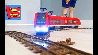 Сделали Освещение для Поезда Железная дорога Лего Собираем Поезд на Пульте управления