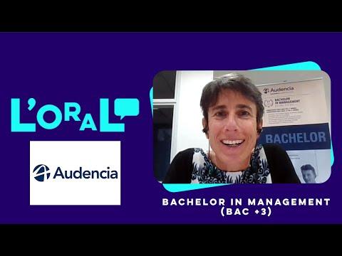 L'oral : Bachelor Audencia. Programme de gestion et de management des entreprises