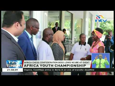 Africa Chess confederation boss, Lewis Ncube attends Africa Youth Championship event in Kisumu