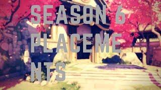 Season 6 placements