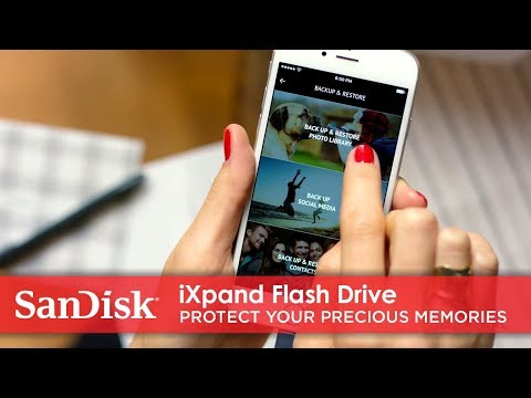Short Video of iXpand Flash Drive automatic back up features