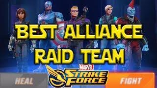 Best Team For Alliance Raid | Marvel Strike Force
